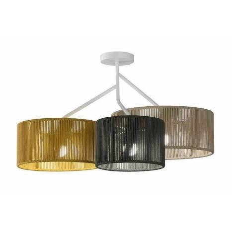 Lámpara de techo Senia 3L E27 cuerda - Ole