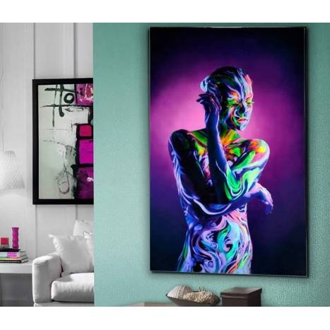 SCHULLER Body Paint glass printed photography