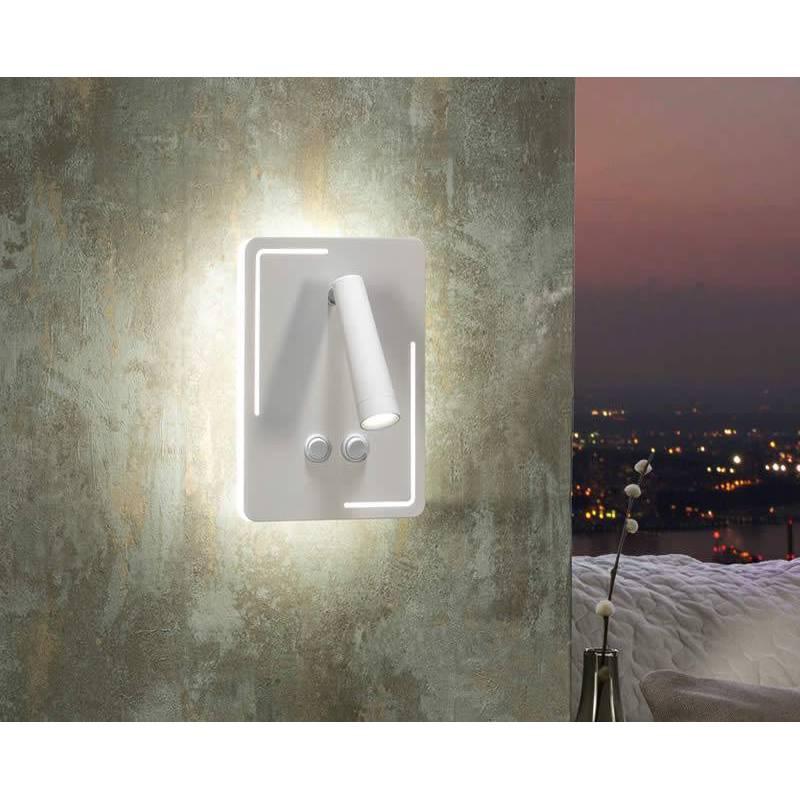 Aplique de pared gael led 10 3w blanco schuller - Aplique pared led ...