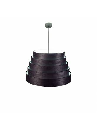 ICONO Tower 50cm black veneer pendant lamp