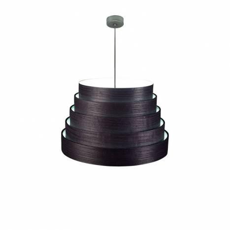 Lámpara colgante Tower 50cm madera negro - Icono