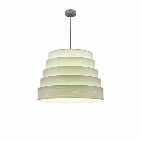 ICONO Tower 50cm white veneer pendant lamp
