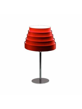 ICONO Tower red veneer table lamp