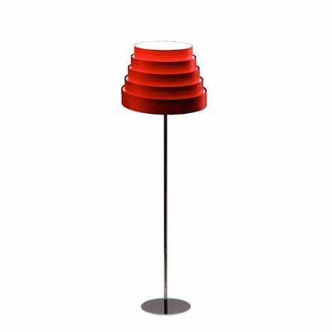 ICONO Tower red veneer floor lamp