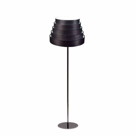 Lámpara de pie Tower madera negro - Icono