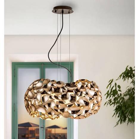 Lámpara colgante Narisa 47cm oro - Schuller