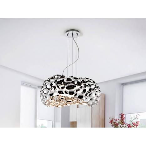 Lámpara colgante Narisa 47cm cromo - Schuller