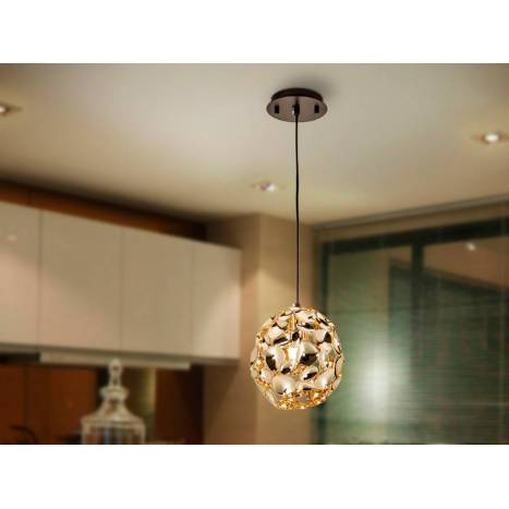 Lámpara colgante Narisa 18cm oro - Schuller
