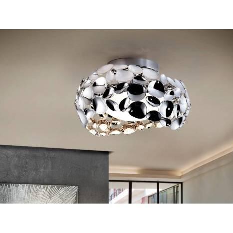 Plafón de techo Narisa 32cm cromo - Schuller