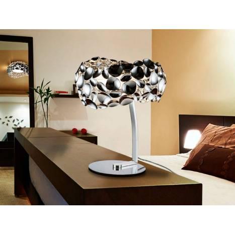 Lámpara de mesa Narisa 3l cromo - Schuller