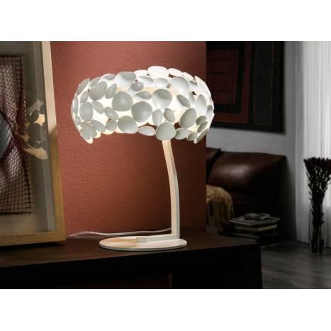 Lámpara de mesa Narisa 3l blanco - Schuller