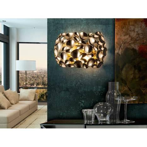 Aplique de pared Narisa 2l oro - Schuller