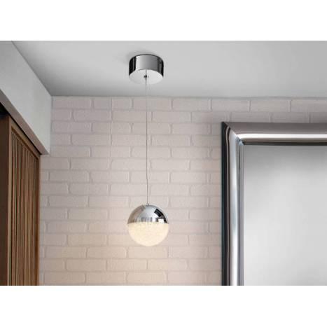 SCHULLER Sphere ceiling lamp 12cm chrome