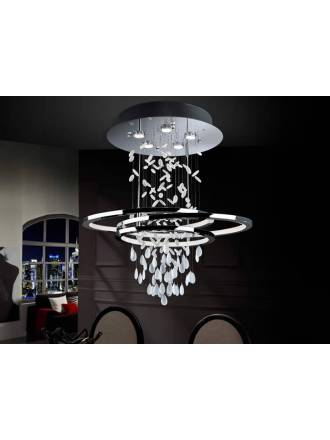 Lámpara de techo Bruma LED 68+35w cromo - Schuller