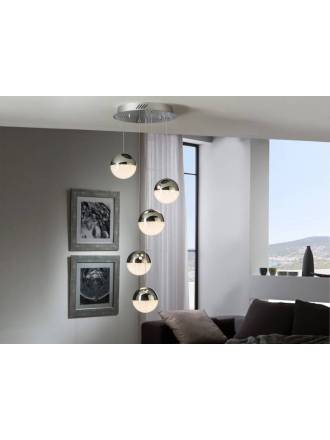 SCHULLER Sphere ceiling lamp 5l chrome