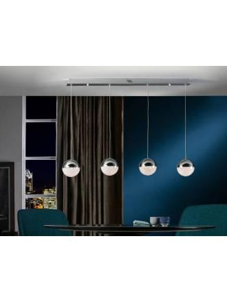 Lámpara colgante Sphere 4l lineal cromo - Schuller