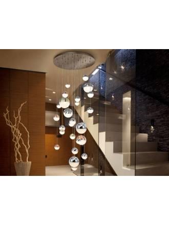Lámpara colgante Sphere 27l cromo - Schuller