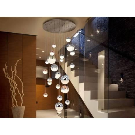 SCHULLER Sphere ceiling lamp 27l chrome