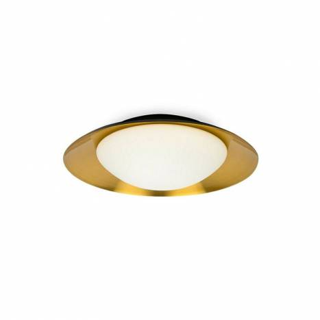 FARO Side LED 39cm black-copper ceiling lamp