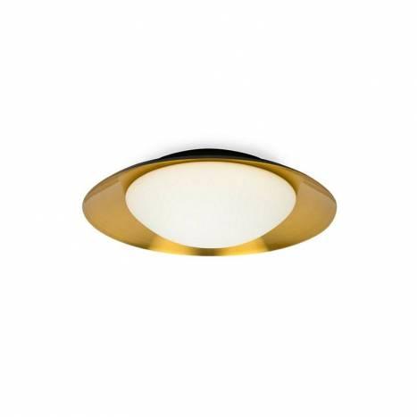 Plafón de techo Side LED 39cm negro-cobre - Faro
