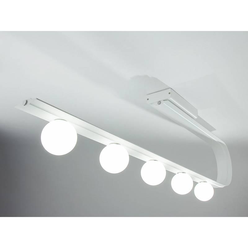 Lampara de techo led polka 5 luces curva rogu for Lamparas led techo cocina