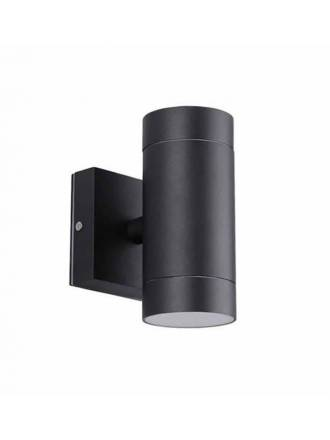 Aplique de pared Lugos 2L GU10 IP54 negro - LDV