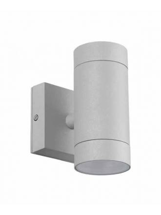 Aplique de pared Lugos 2L GU10 IP54 gris - LDV