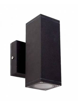 Aplique de pared Llanes 2L GU10 IP54 negro - LDV