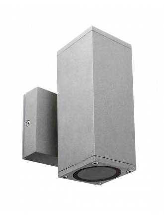 Aplique de pared Llanes 2L GU10 IP54 gris - LDV