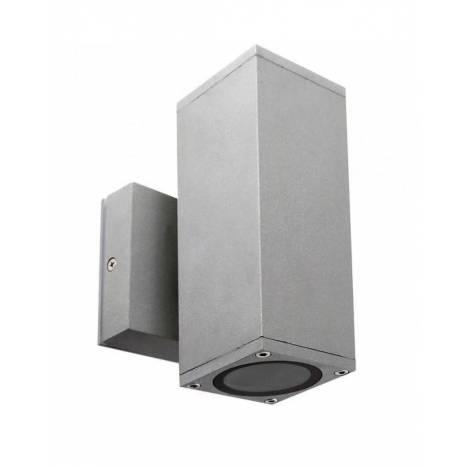 LDV Llanes 2L GU10 grey wall lamp