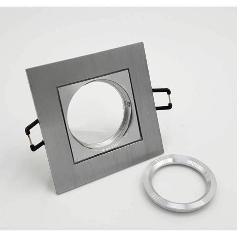 BPM Care square recessed light aluminium