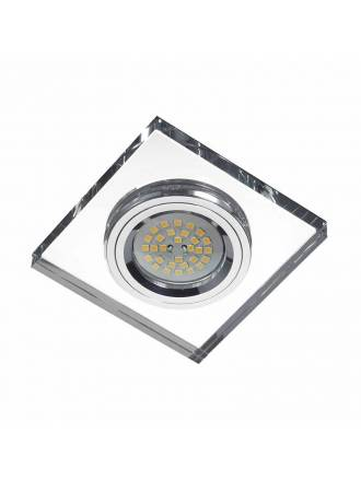 LDV Mirror square recessed light glass