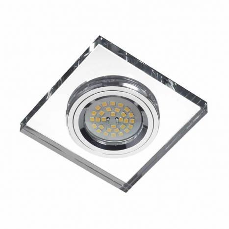 LDV Mirror square recessed light glass