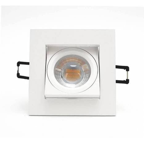 BPM Care square recessed light white aluminium