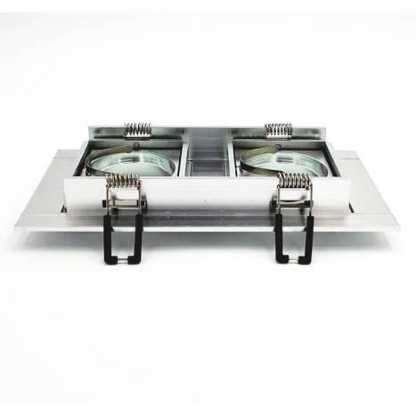 BPM Square recessed 2 light aluminium