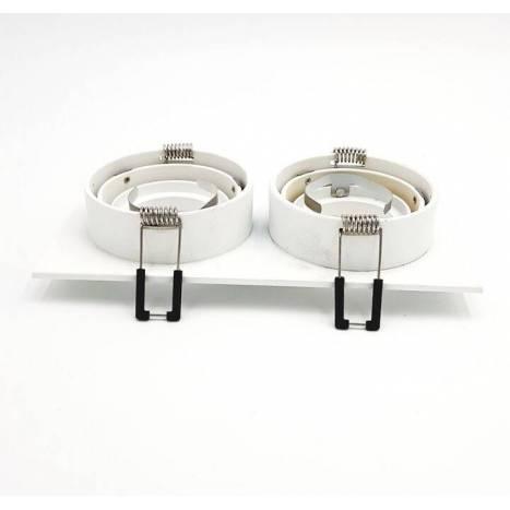 Foco empotrable Mini Catli 2 luces rectangular blanco de Bpm