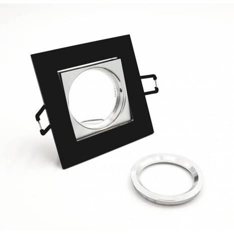 BPM Care square recessed light black