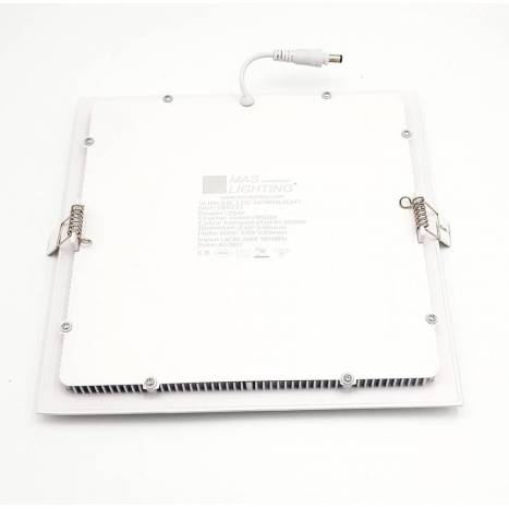 Downlight LED 25w cuadrado blanco extraplano Maslighting