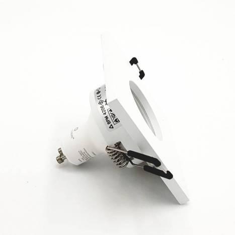 Foco empotrable 4206 IP65 cuadrado blanco - Bpm