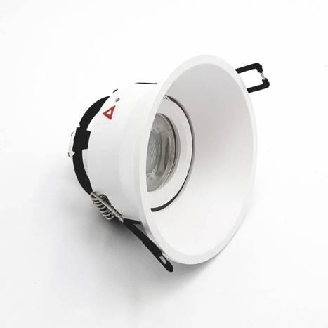 BPM Sikma I recessed light white aluminium