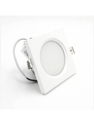 Foco empotrable LC1445SQCH cuadrado blanco - YLD