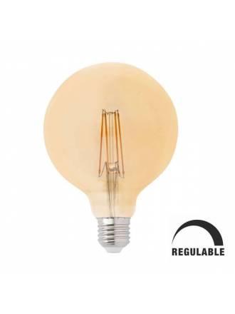 Bombilla LED 5w E27 G125 Globo vintage regulable - Faro