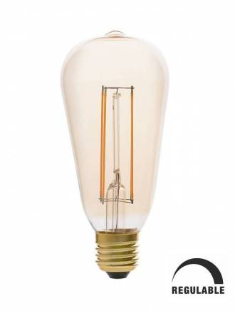 Bombilla LED 5w E27 ST64 Pebetero vintage regulable - Faro