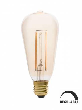 Bombilla LED 5w E27 ST64 Pebetero vintage regulable - Faro