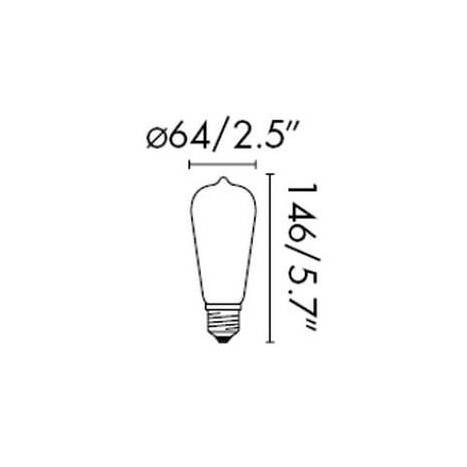 FARO Pebetero ST64 LED 5w E27 bulb dimmable