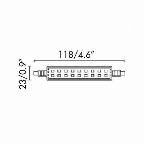 FARO R7s LED bulb 12w 118mm 360
