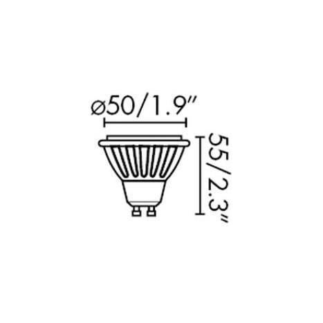 FARO GU10 LED bulb 7w 120º SMD