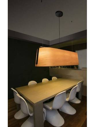 FARO Stood 5L E27 pendant lamp wood
