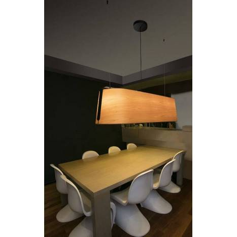 Lámpara colgante Stood 5L E27 madera - Faro