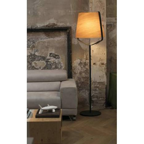 FARO Stood 1L E27 floor lamp wood